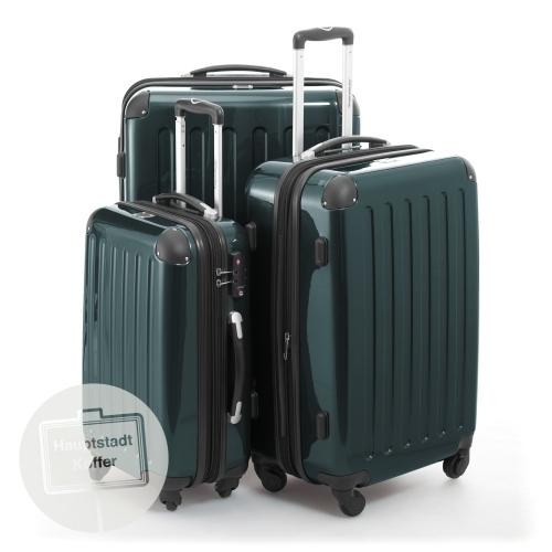 preiswerter koffer alex 3er set waldgr n hochglanz. Black Bedroom Furniture Sets. Home Design Ideas