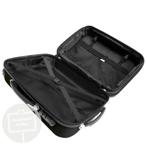 preiswerter koffer alex 3er set schwarz hochglanz. Black Bedroom Furniture Sets. Home Design Ideas