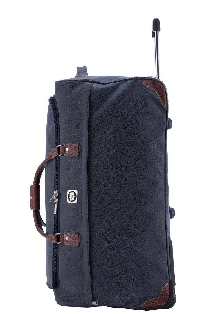 preiswerter reisetasche mit rollen 108 l blau. Black Bedroom Furniture Sets. Home Design Ideas